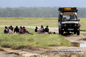 Ausflug einer Schulklasse in Kenia