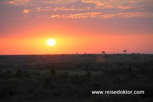 Sonnenaufgang, Ballonfahrt in der Masai Mara