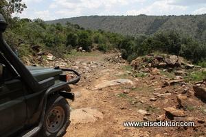 Straße Masai Mara Nationalpark