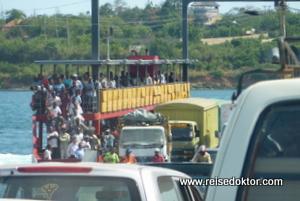 Fähre von Mombasa an die Südküste