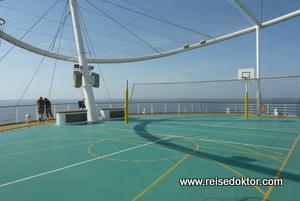 Basketball auf der AIDA
