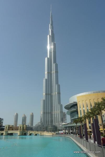 Das derzeit höchste Gebäude der Welt: Der Burj Kahlifa in Dubai