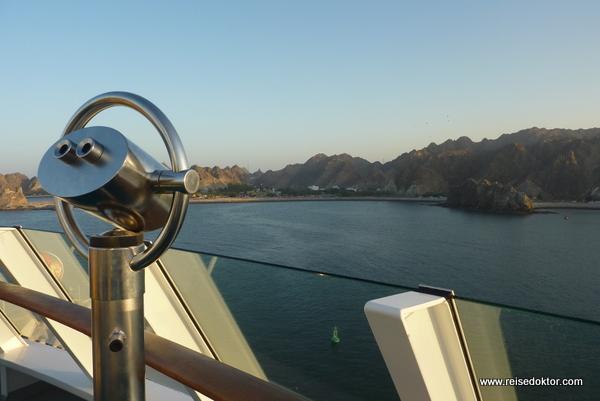 Kreuzfahrtschiff AIDA im Oman