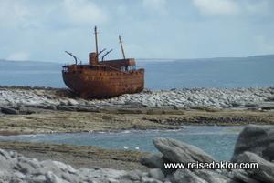Schiffswrack Aran Islands