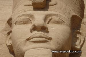 Abu Simbel Kopf Ramses II