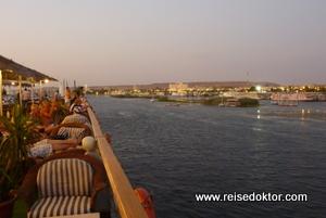 Assuan, Abfahrt mit der MS Grand Sun