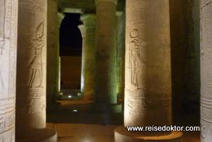 Säulen im Kom Ombo Tempel