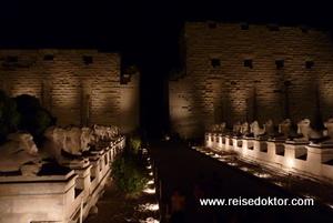 Luxor: Karnak bei Nacht