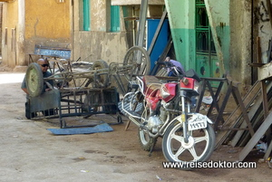 Straßenleben in Ägypten