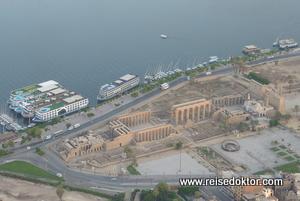 Luxor Tempel von oben