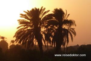 Nilkreuzfahrt Sonnenuntergang