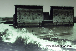 Philae Tempel unter Wasser