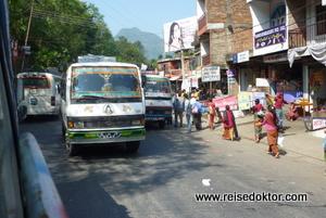 Busfahrt in Nepal
