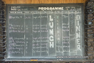 Chitwan Jungle Lodge - Programm