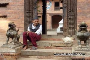 Eingang Museum Bhaktapur