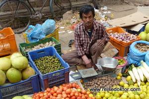Gemüsehändler in Nepal