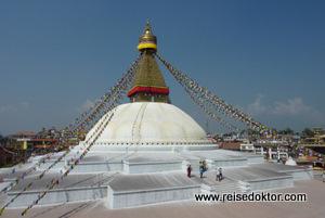 Kathmandu: Stupa von Bodnath