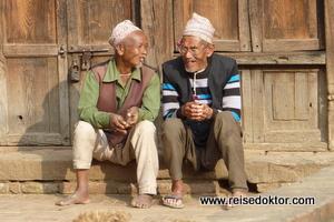 Männer in Bhaktapur, Nepal