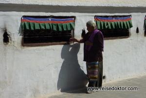 Pilger in Kathmandu