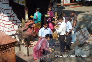 Pilger in Pokhara