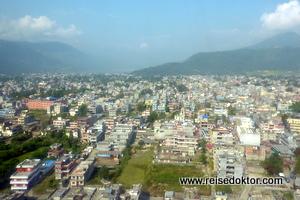 Luftaufnahme von Pokhara