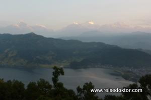 Sonnenaufgang in Pokhara