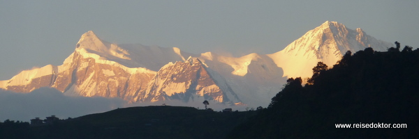 Pokhara, Sonnenuntergang