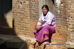 In der Stadt Kirtipur bei Kathmandu, Nepal