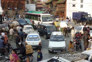 Strassenverkehr Kathmandu