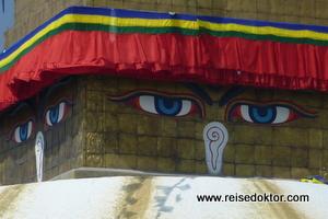 Stupa von Bodnath - Augen des Buddha