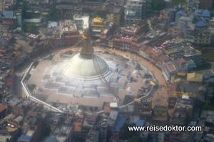 Stupa von Bodnath - Lufaufnahme