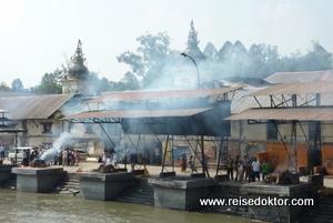 Verbrennungsstätte in Nepal