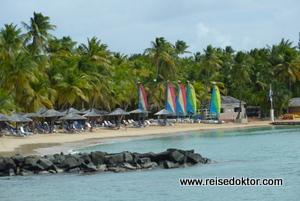 Hotel direkt am Strand auf Antigua