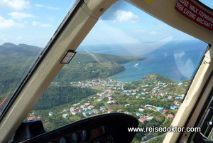 Hubschrauberflug St. Lucia