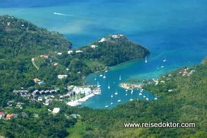 St. Lucia - Helikopter Rundflug