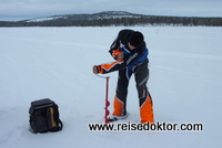 Eisfischen Finnland