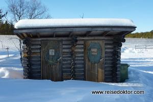 Kakslauttanen Toilette Schneeiglu