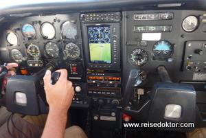 Cockpit Rundflug Namibia