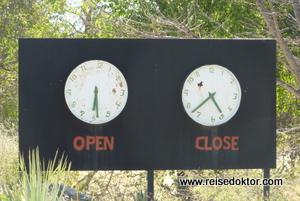 Etoscha Öffnungszeiten