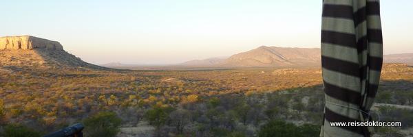 Terrasse Vingerklip Lodge, Namibia