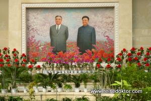 Blumen Pjöngjang