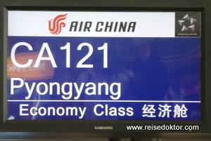 Flug nach Pyongyang