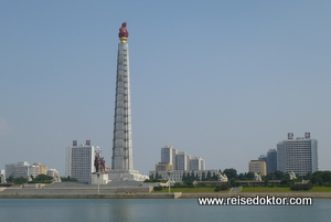 Juche Turm in Pjöngjang