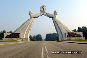 Nordkorea - Denkmal der Wiedervereinigung