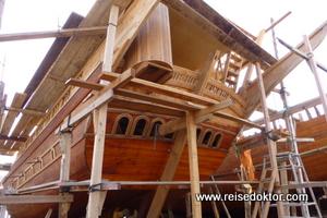 Dhau Werft im Oman