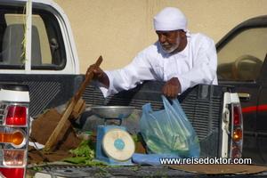 Gemüsehändler Markt im Oman