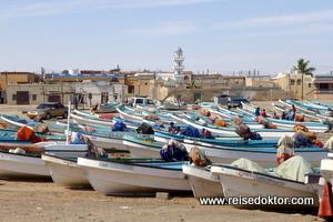 Fischerdorf, Küste von Oman