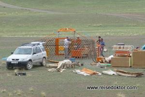 Bau einer Jurte