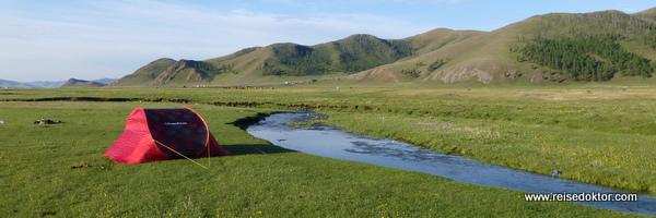 Camping in der Mongolei