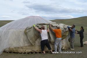 Jurtenzelt in der Mongolei